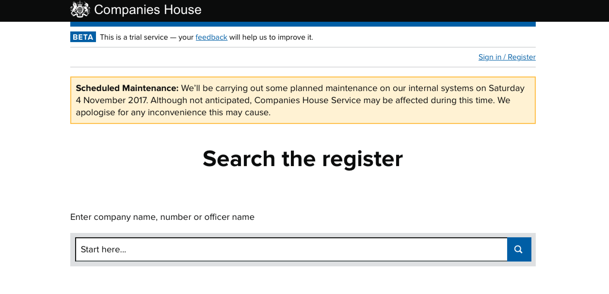 companies house company search